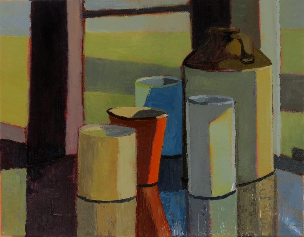 """Table Top"" original fine art by Joan Wiberg"