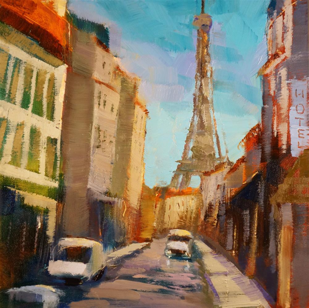 """""""Rue Saint-Dominique"""" original fine art by Sue Harrell"""
