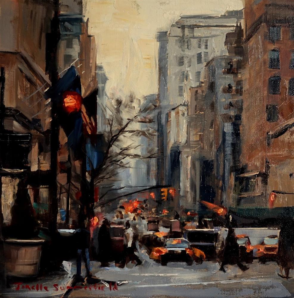 """""""Rush Hour in Manhattan"""" original fine art by Jonelle Summerfield"""