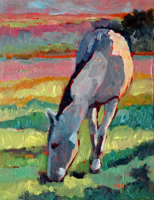 """Horsing Around Challenge SOLD"" original fine art by Nancy Standlee"