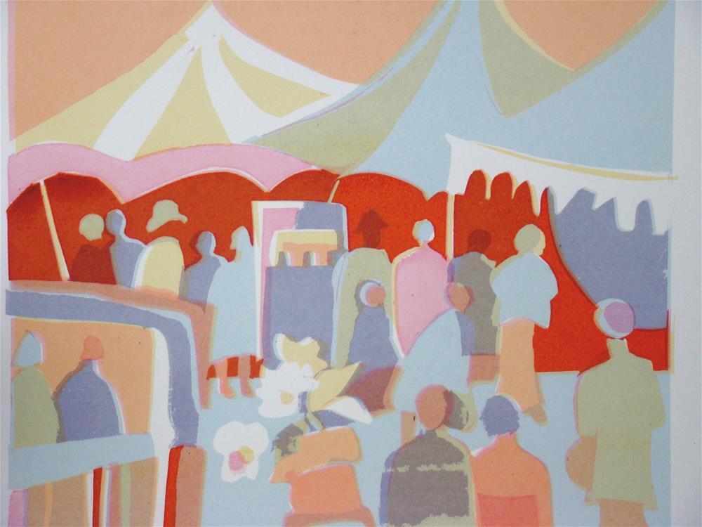 """strawberry fair"" original fine art by meribeth coyne"