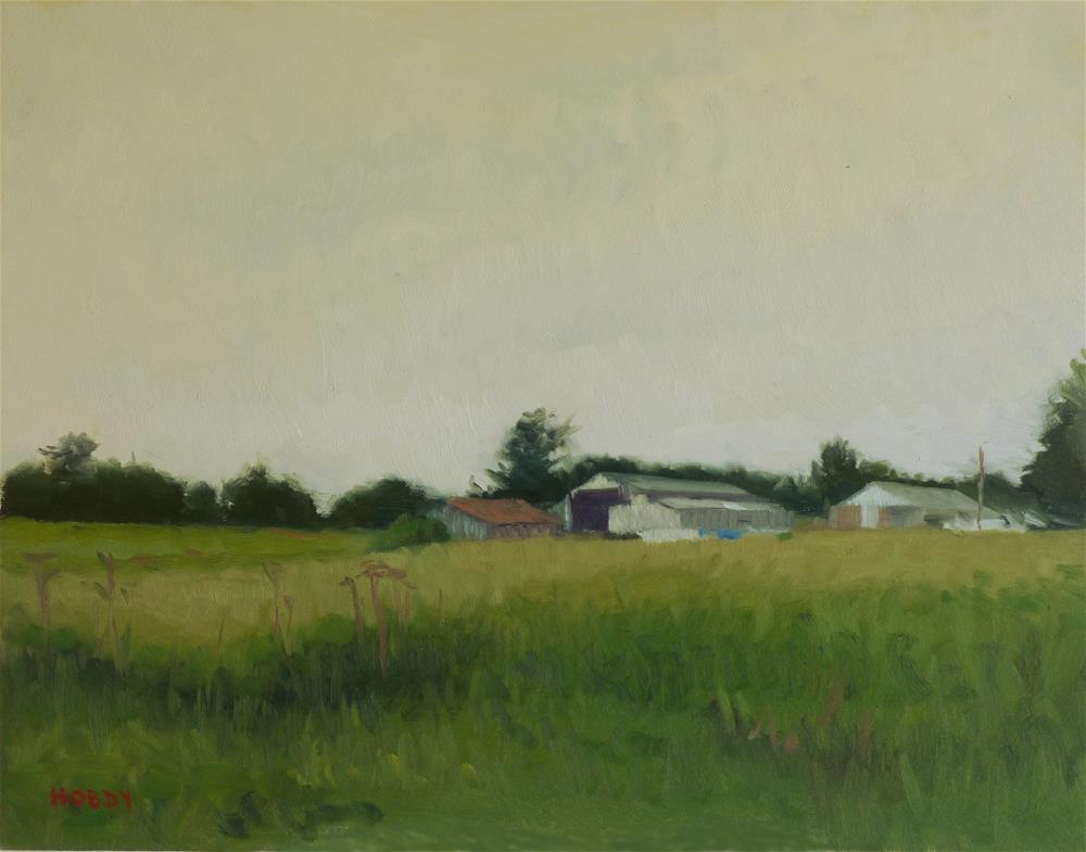 """Overcast Farm"" original fine art by Weston Hobdy"