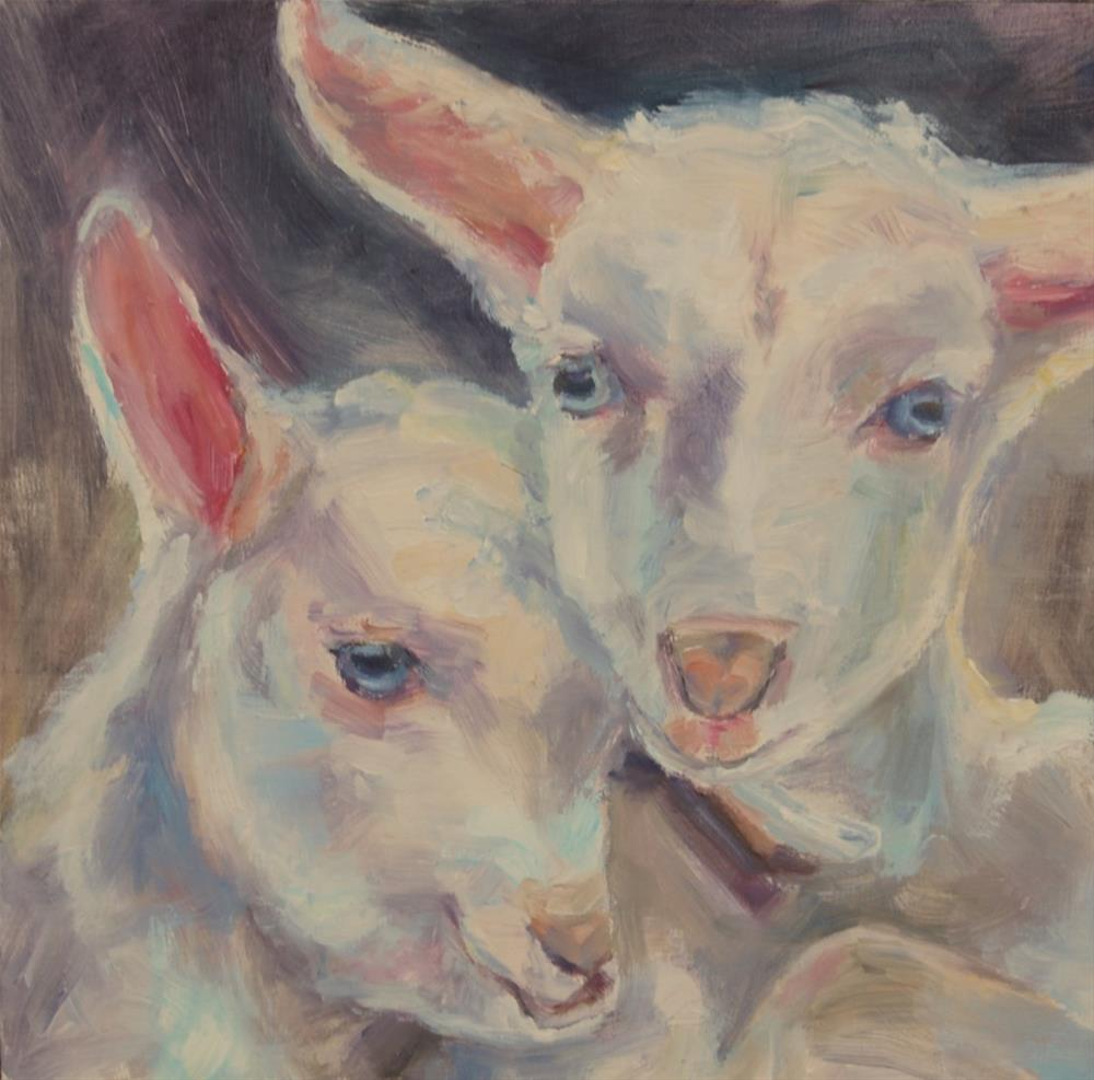"""Lamb painting, Original oil by Carol DeMumbrum"" original fine art by Carol DeMumbrum"