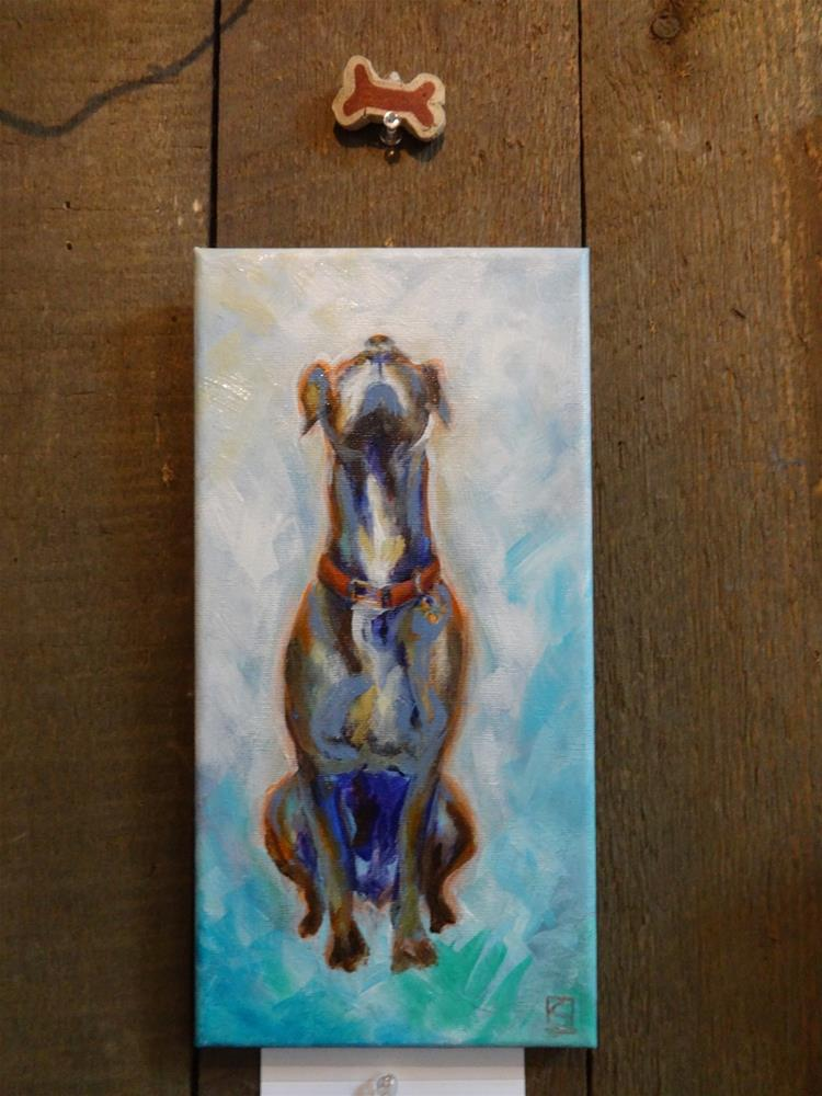 """5032 - Doggie Treat"" original fine art by Sea Dean"