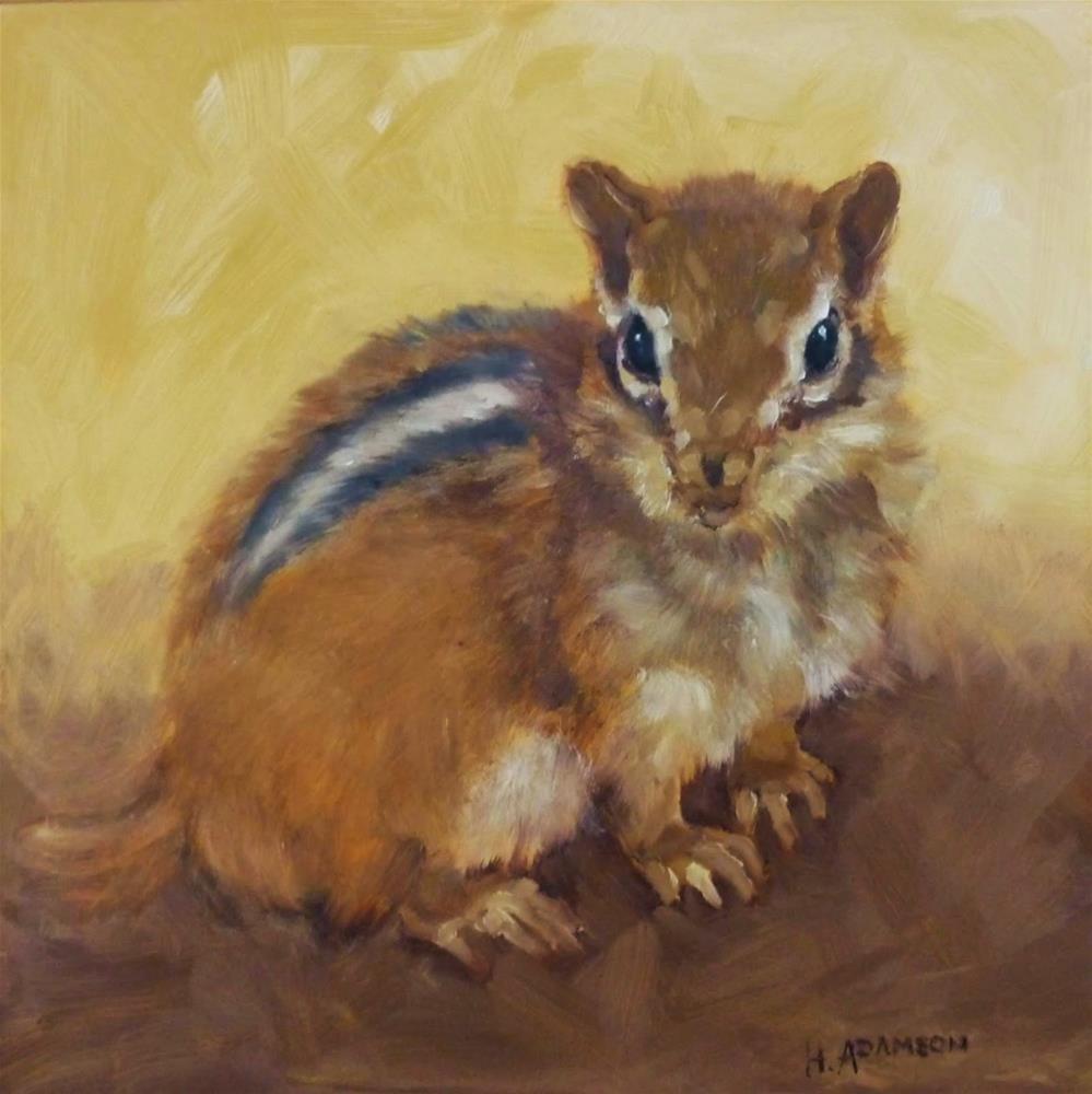 """""""Chippie"""" original fine art by Helene Adamson"""