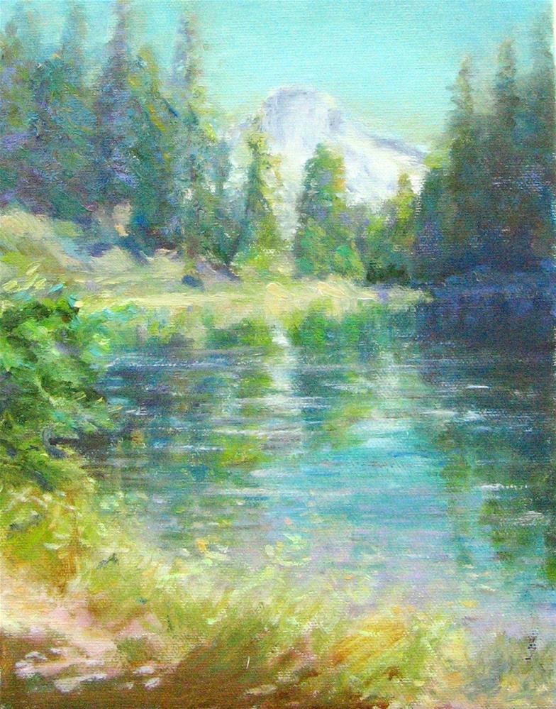 """Hiker's Reward"" original fine art by Cynthia Mahlberg"