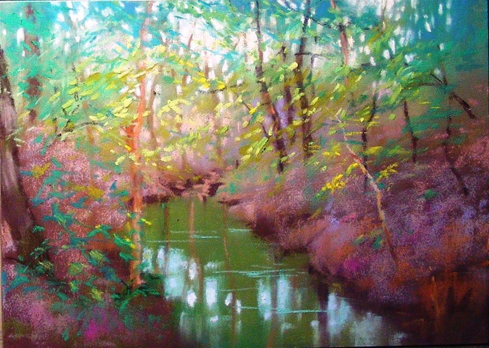"""Summer Whisper"" original fine art by Celine K.  Yong"
