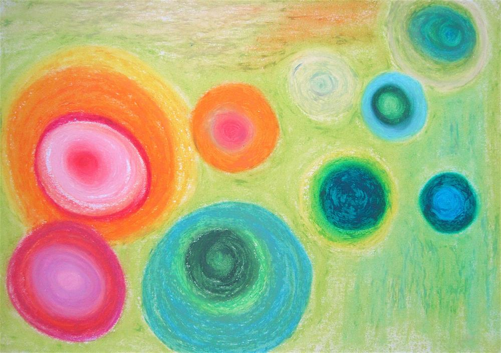 """Happy Cells in My Body"" original fine art by Adéla Svobodová"