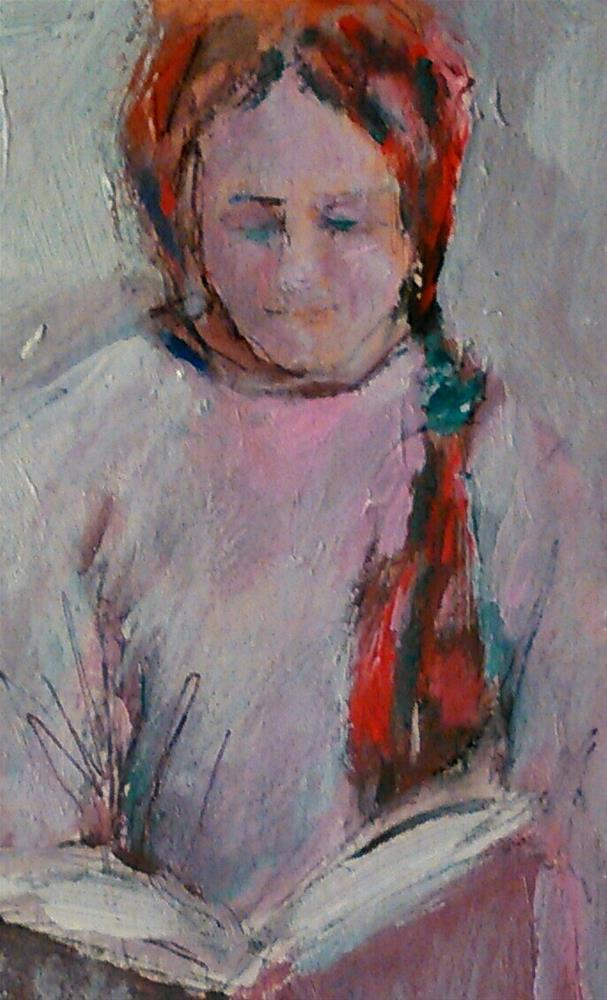"""Book Girl"" original fine art by Ann Rudd"