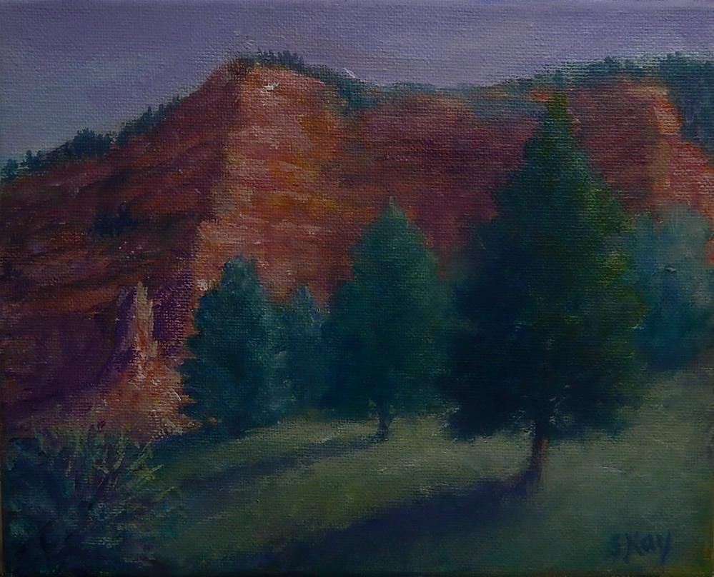 """Utah Rest Area"" original fine art by Sharon Kay Baker"