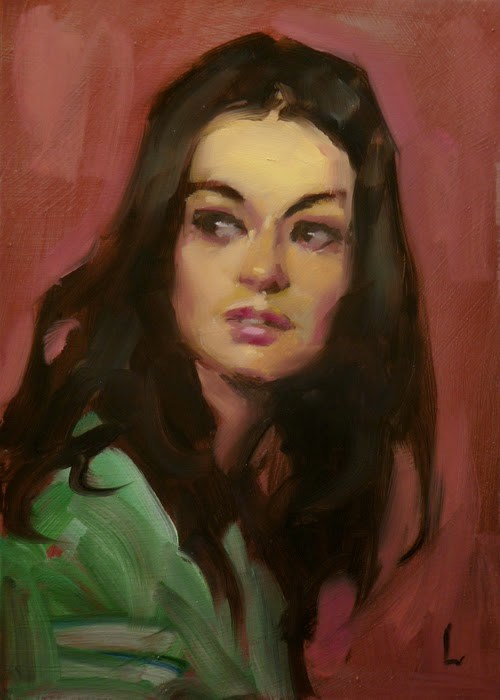 """Look-See"" original fine art by John Larriva"