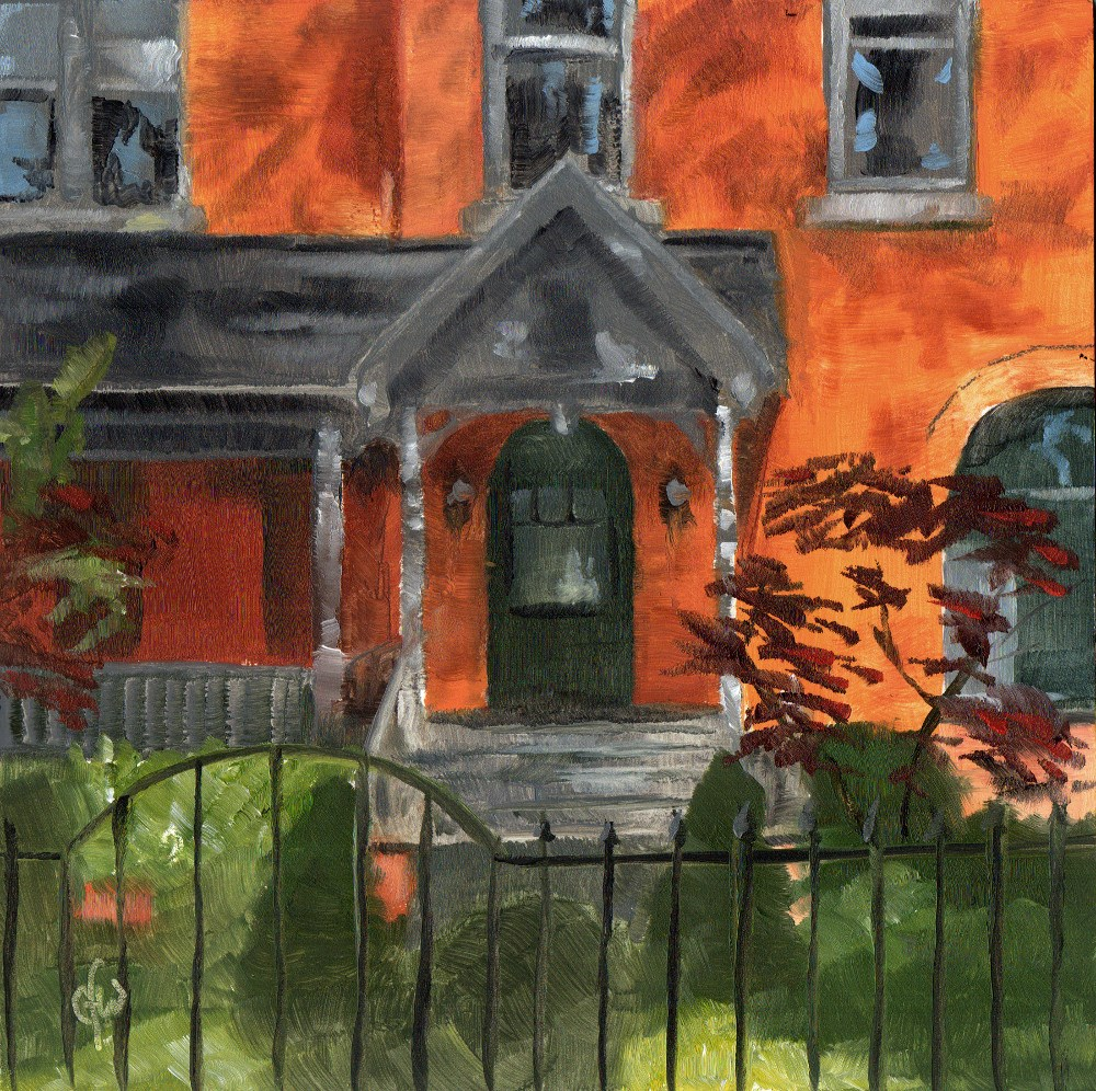 """Red Brick House"" original fine art by Gary Westlake"