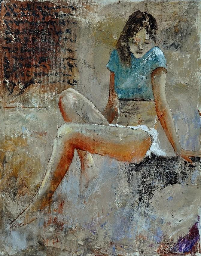 """young girl 450121"" original fine art by Pol Ledent"