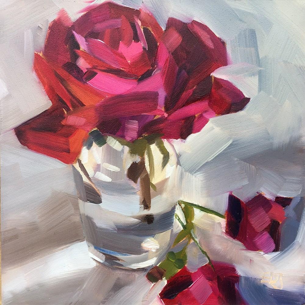 """""""Oregon Rose"""" original fine art by Elizabeth Dawn Johnston"""