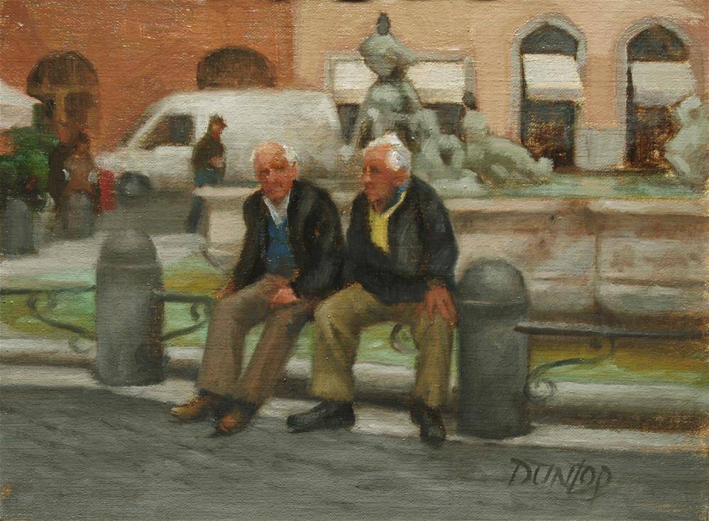 """Old Centurions"" original fine art by Bobbi Dunlop"