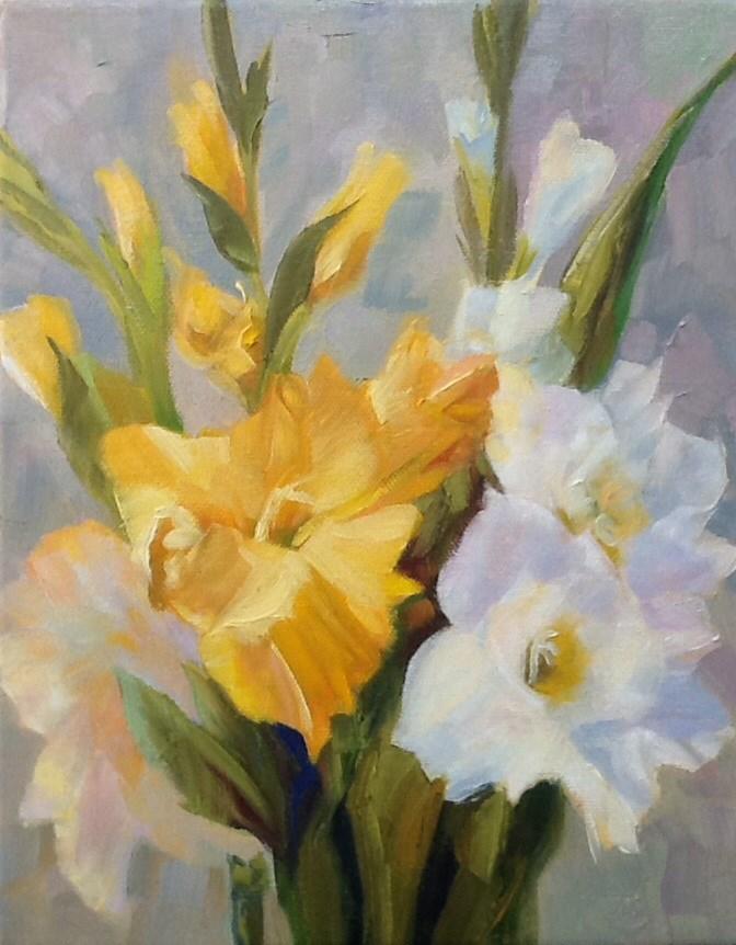 """Gladiolus"" original fine art by Jean Fitzgerald"