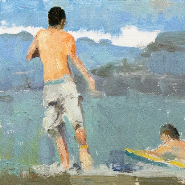 """Beach Fun"" original fine art by Randall Cogburn"