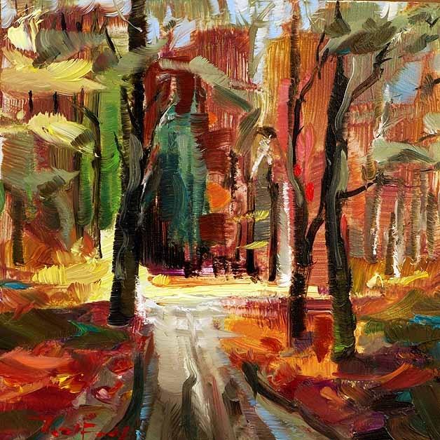 """Herbst im Wald"" original fine art by Jurij Frey"