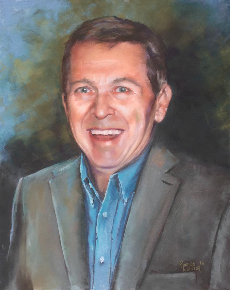 """Founder Jim Reeves"" original fine art by Pamela Hamilton"