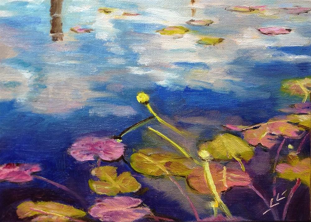 """Channeling Monet"" original fine art by Linda Lowery"