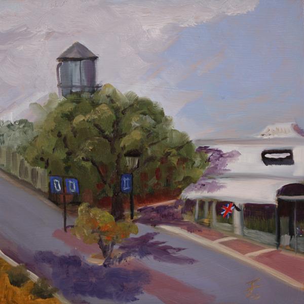 """Downtown 1"" original fine art by Jane Frederick"