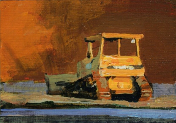 """Bulldozer"" original fine art by Chris  Breier"