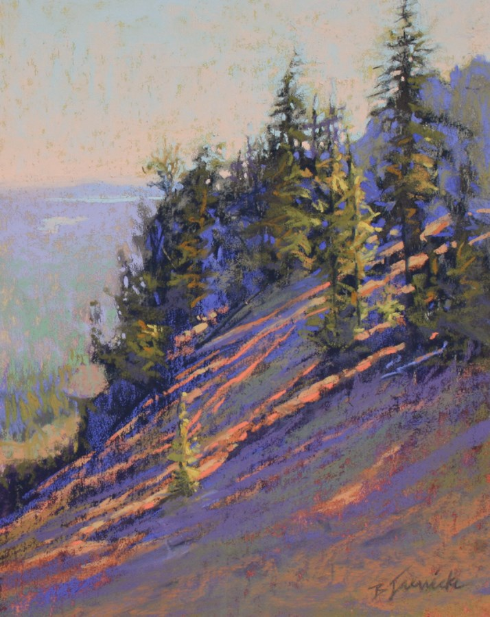 """Morning Rays on the Mountainside"" original fine art by Barbara Jaenicke"
