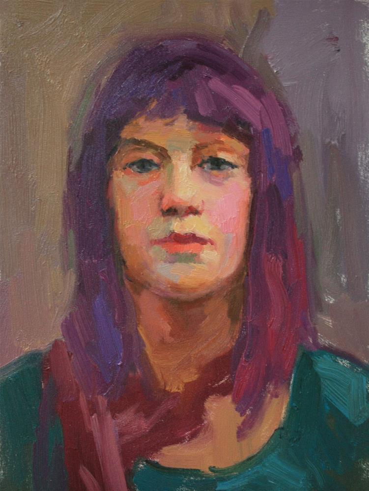 """Portrait Study #14"" original fine art by Kathryn Townsend"