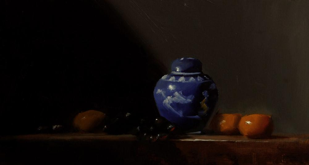 """Blue Ginger Jar"" original fine art by Neil Carroll"
