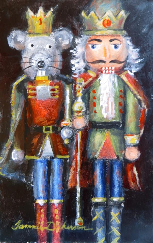 """Nutcrackers Royal"" original fine art by Tammie Dickerson"