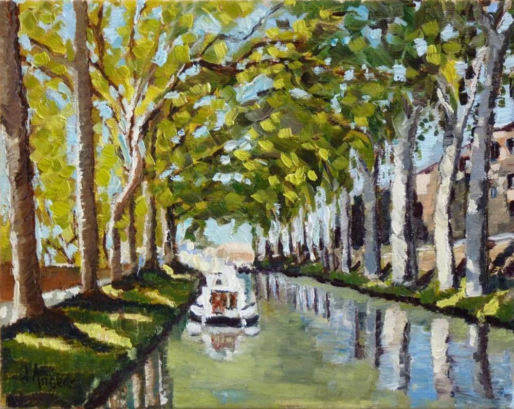 """Canal du Midi II"" original fine art by Karen D'angeac Mihm"