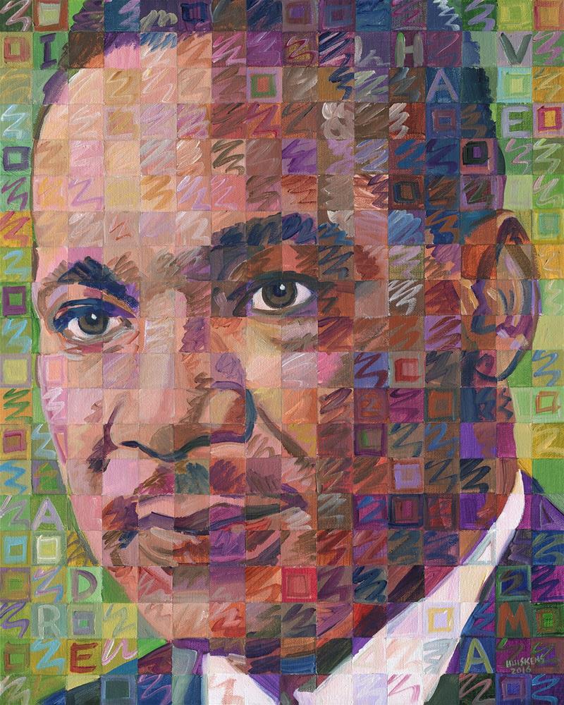 """Martin Luther King Jr. #5"" original fine art by Randal Huiskens"
