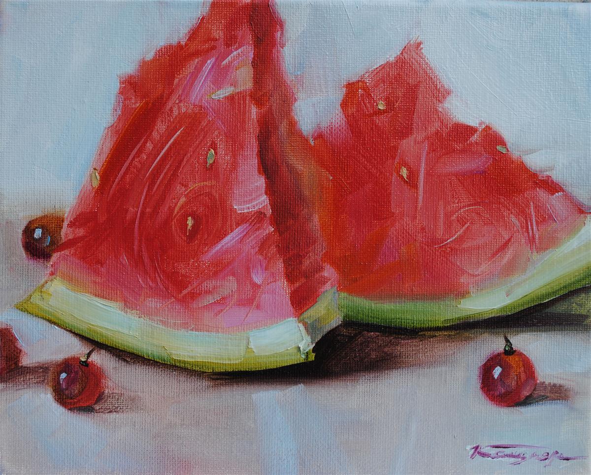 """Fresh & Juicy"" original fine art by Elena Katsyura"