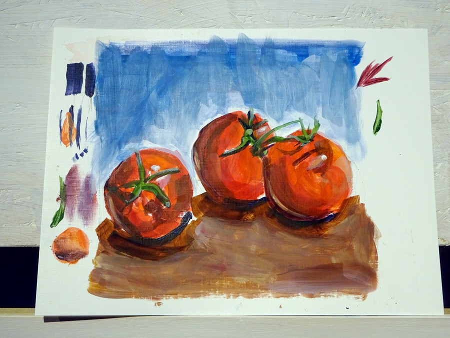 """1881 Training Tomatos"" original fine art by Dietmar Stiller"