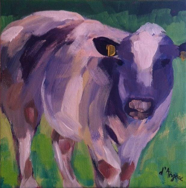 """Belgian Cow I"" original fine art by Karen D'angeac Mihm"