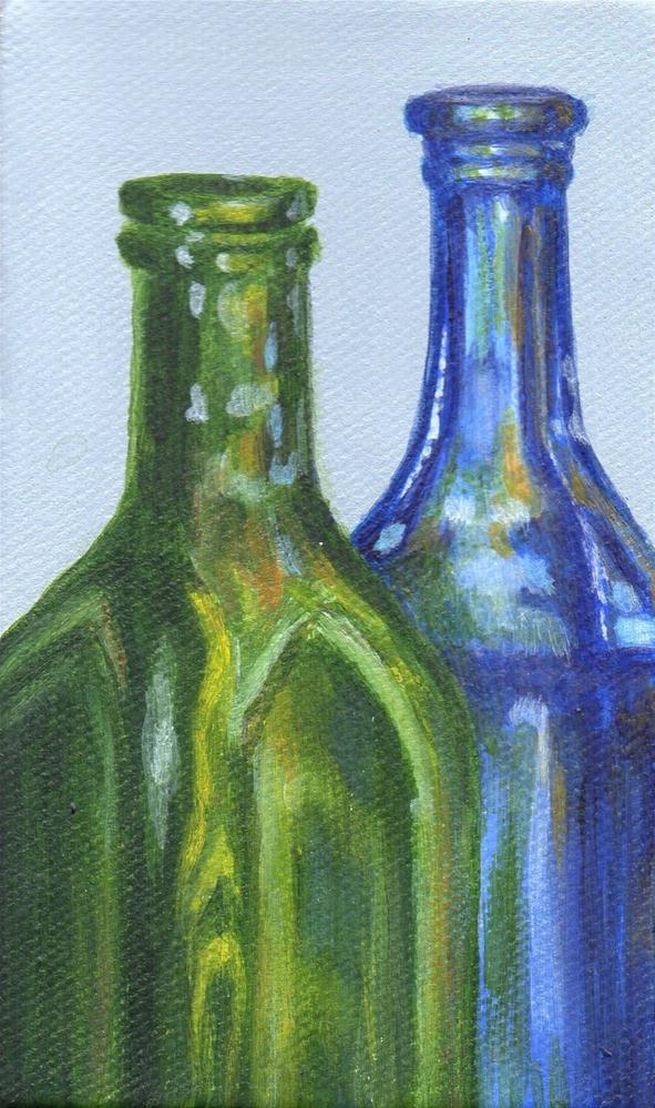 """By the Bottle"" original fine art by Debbie Shirley"