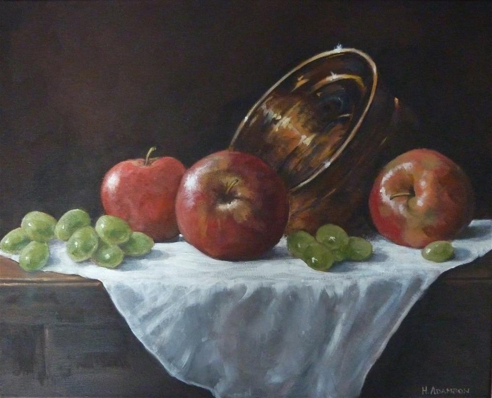 """Fruit and Brass"" original fine art by Helene Adamson"