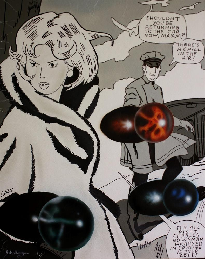 """Romance Comic with Marbles"" original fine art by Fred Schollmeyer"