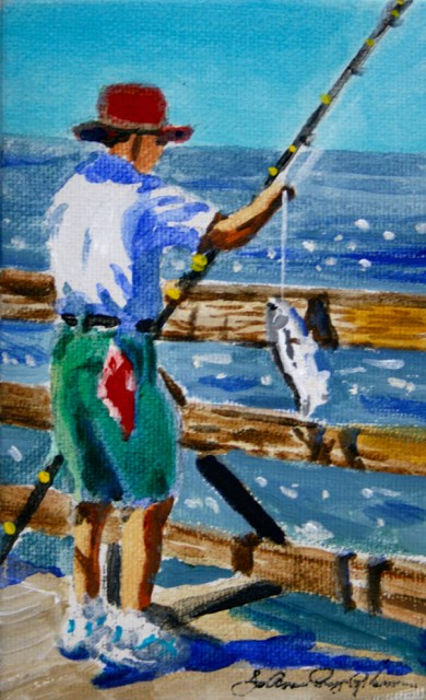 """Catch of the Day"" original fine art by JoAnne Perez Robinson"