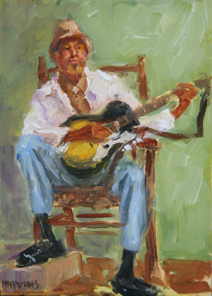 """Guitar player"" original fine art by Phyllis McAdams"