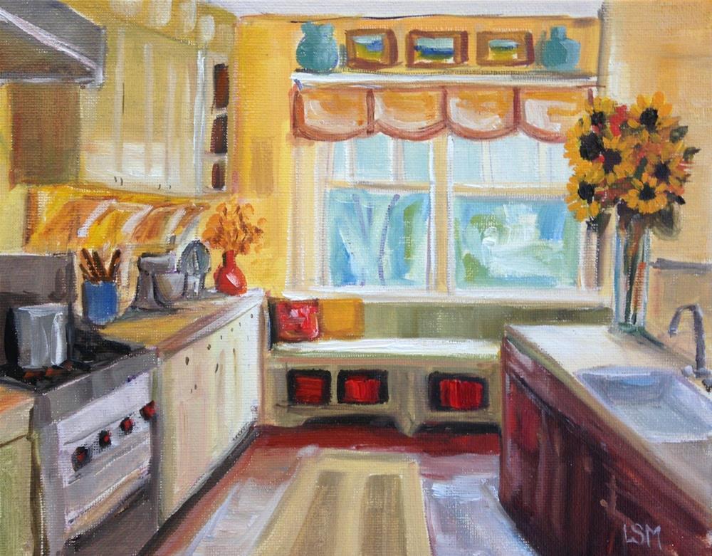 """Sunflower Kitchen"" original fine art by Linda Marino"