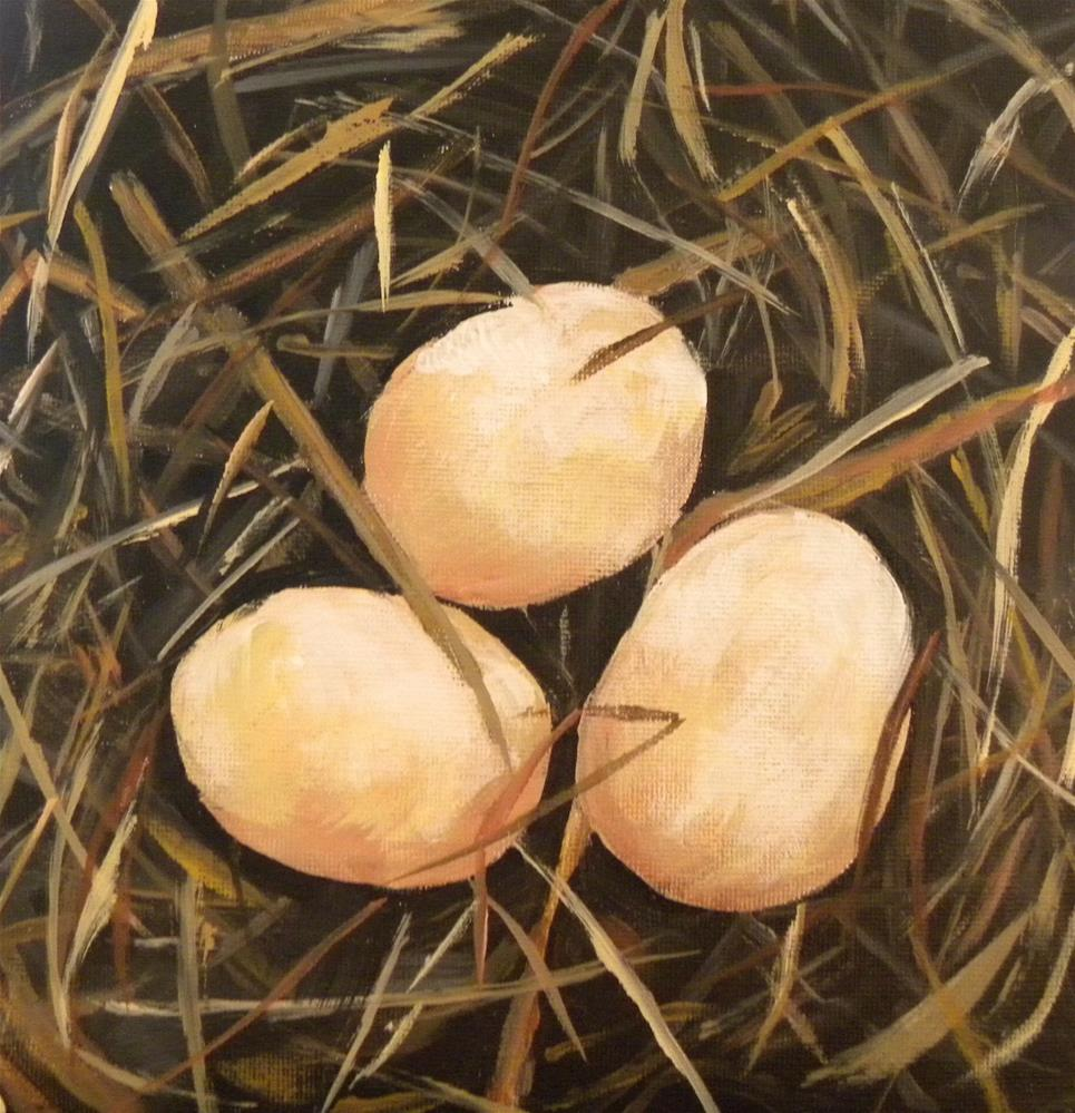 """Eggs"" original fine art by cheryl buhrman"