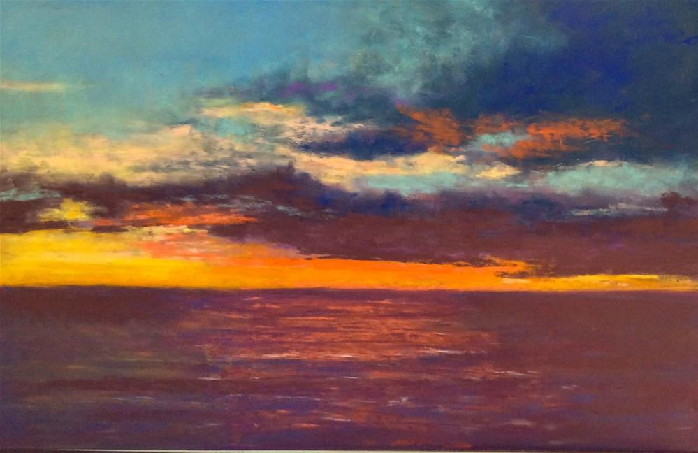 """Malibu Morning"" original fine art by Jacquelyn Blue"