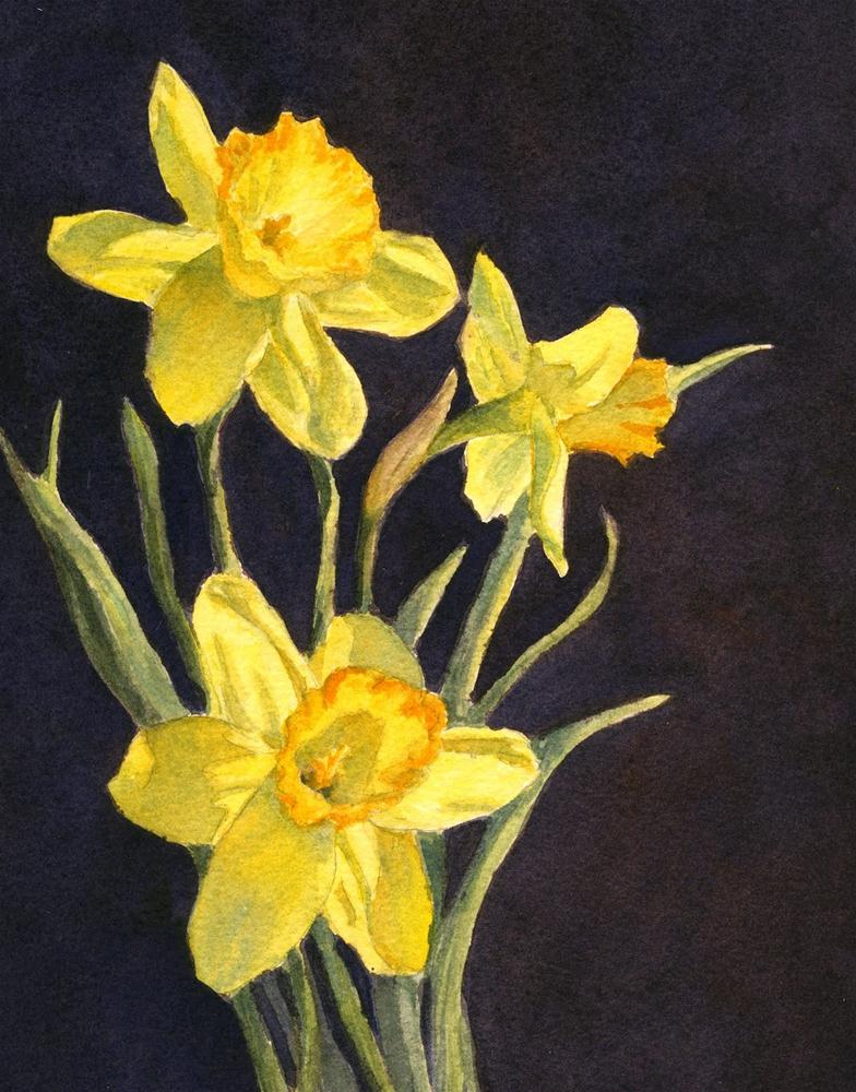 """Yellow Daffs"" original fine art by Vikki Bouffard"