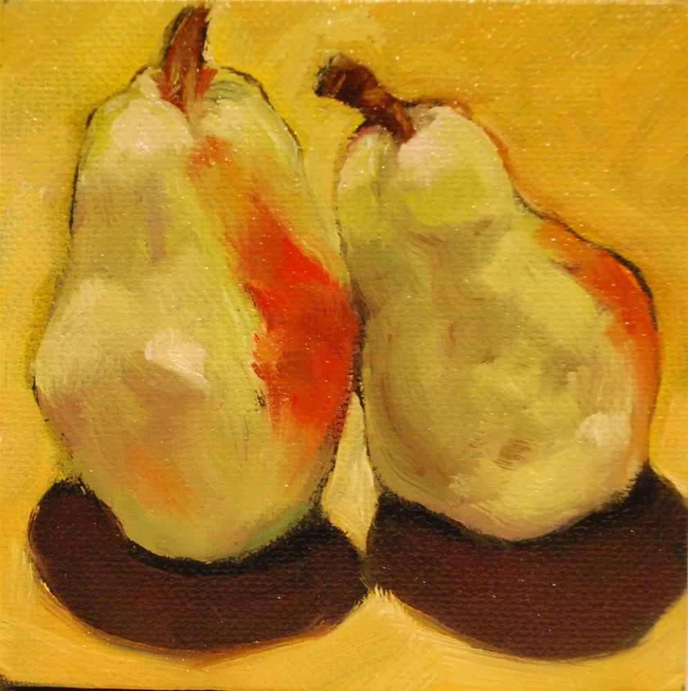 """Pears"" original fine art by Beverley Phillips"