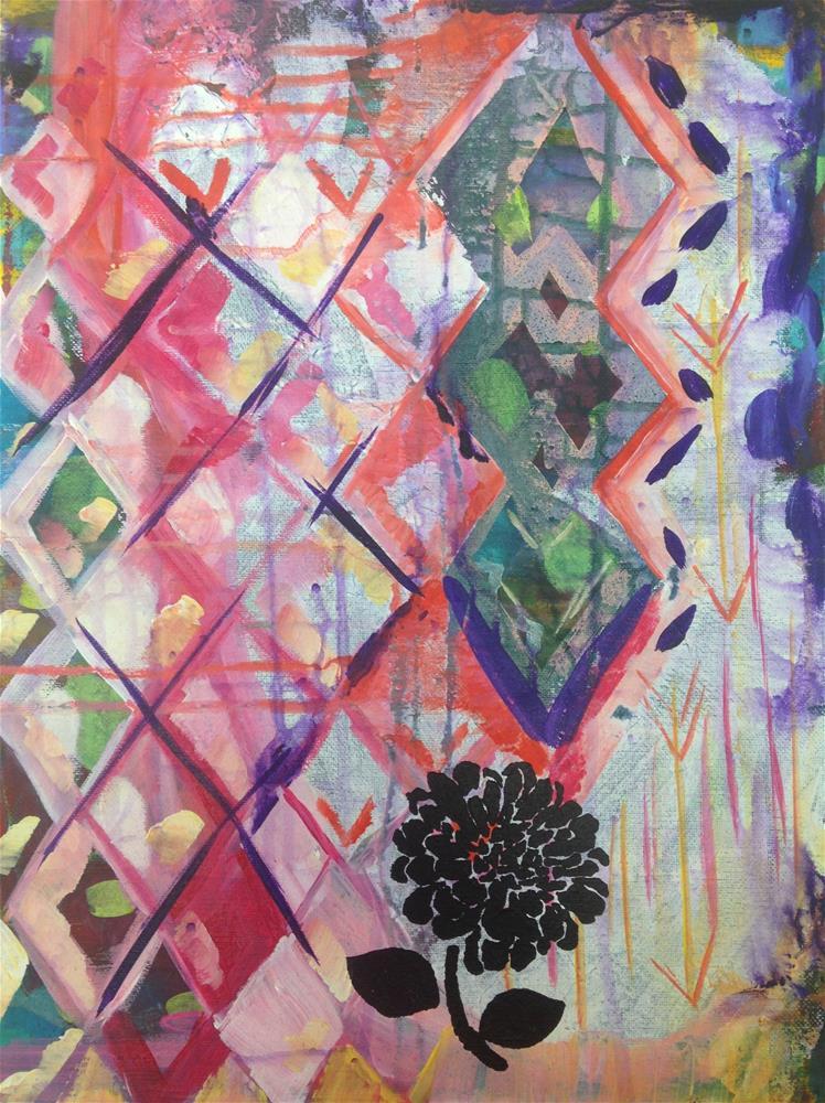 """Warm Diamond Bloom"" original fine art by Nicole Saunders"