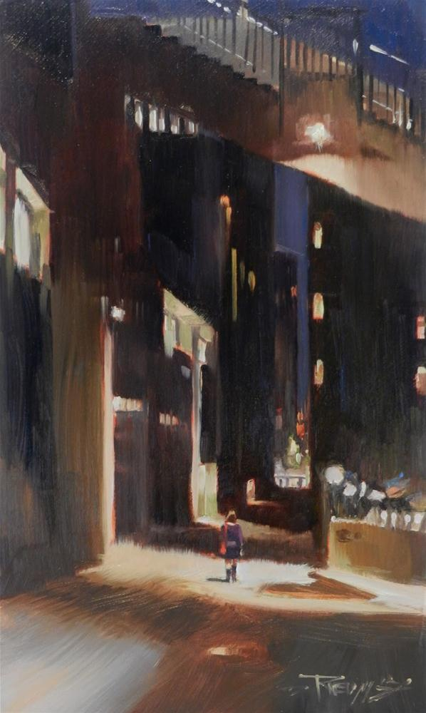 """Big City  Seattle city oil painting by Robin Weiss"" original fine art by Robin Weiss"