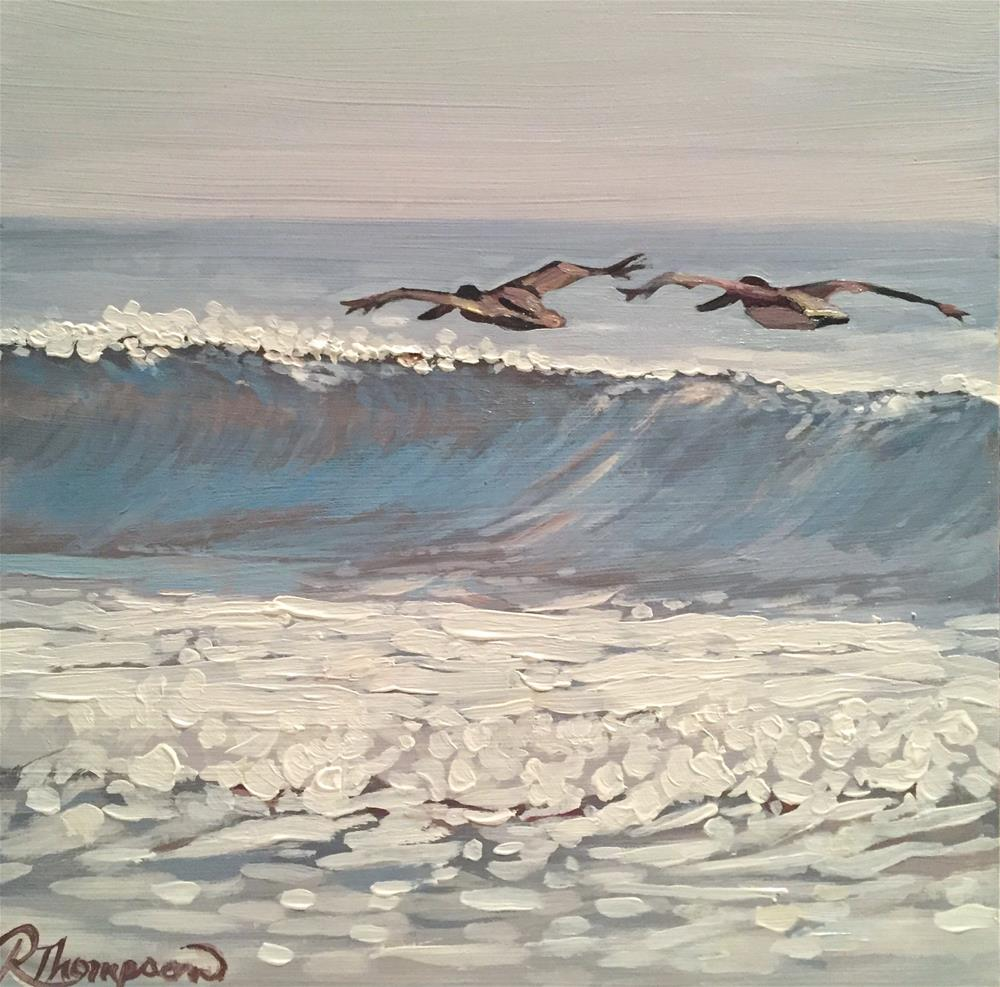 """Wave VI"" original fine art by Rachel Thompson"