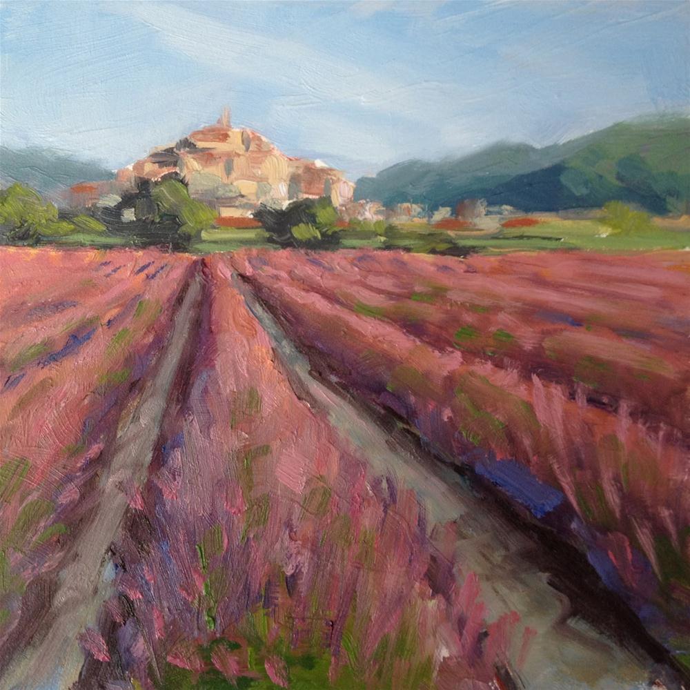 """Lavender Fields near Lourmarin in Provence"" original fine art by Deborah Newman"