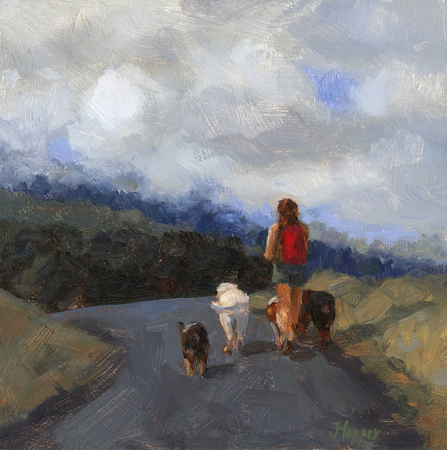 """Hiking Buddies"" original fine art by Joanne Hopper"